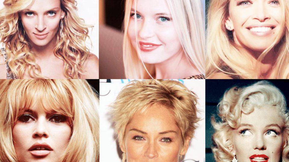 как черный цвет меняет внешность блондинок