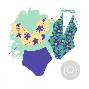 купальник для фигуры ромб